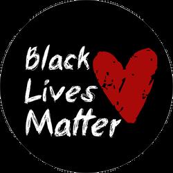 Black Lives Matter Red Heart Sticker