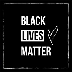 Black Lives Matter Square Sticker