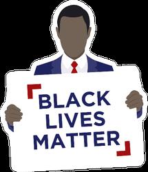 Black Lives Matter Statement Illustration Sticker
