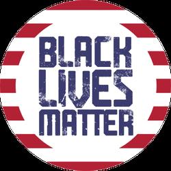 Black Lives Matter Text Vintage Sticker