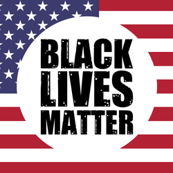 Black Lives Matter US Flag Sticker