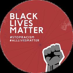 Black Lives Matter With Strong Fist Spiral Sticker