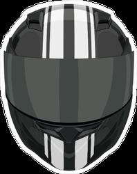 Black Motorcycle Helmet Sticker