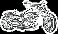 Black Motorcycle Silhouette Illustration Sticker