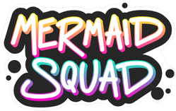 Black Paint Mermaid Squad Sticker