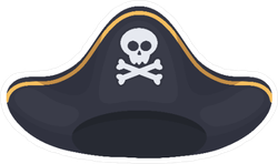 Black Pirate Hat Icon Sticker