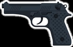Black Pistol Sticker