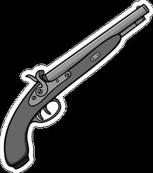 Black Powder Gun Illustration Sticker