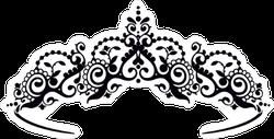 Black Princess Diadem Sticker