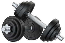 Black Rubber Metal Dumbbell Fitness Sticker