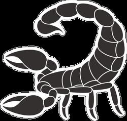 Black Scorpion Logo Sticker