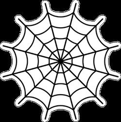 Black Spider Web Sticker