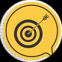 Black Target With Arrow Archery Icon Yellow Sticker