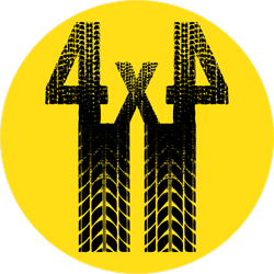 Black Tire Track 4x4 Silhouette Sticker