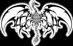 Black Tribal Dragon Sticker