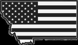 Black USA Flag Montana Sticker