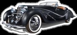 Black Vintage Car Sticker