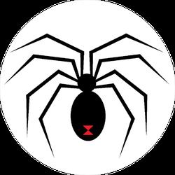 Black Widow Graphic Sticker