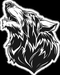 Black Wolf Head Sticker