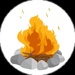 Blazing Campfire Sticker