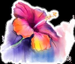 Bleeding Paint Watercolor Hibiscus Sticker