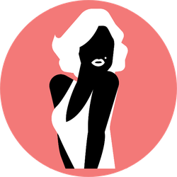Blond Sexy Hollywood Actress Woman Silhouette Sticker
