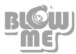 Blow Me Slogan With Turbo Icon JDM Sticker