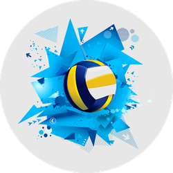 Blue Abstract Volleyball Sticker