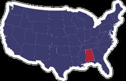 Blue Alabama State Illustration Sticker