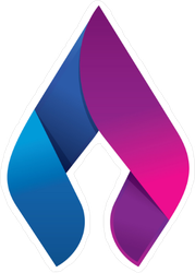 Blue and Purple Abstract Flame Sticker