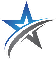 Blue and Silver Star Sticker
