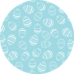 Blue And White Easter Eggs Pattern Sticker