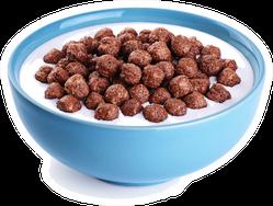 Blue Bowl With Chocolate Corn Balls Sticker