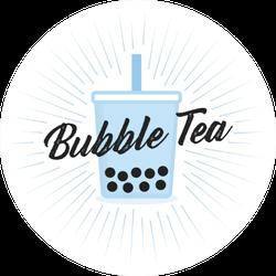 Blue Bubble Tea Tapioca Boba Sticker
