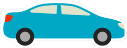 Blue Car Icon Sticker