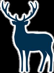 Blue Deer Vector Sticker