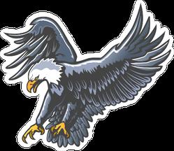 Blue Eagle Landing Emblem Sticker