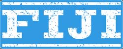 Blue Fiji Watermark Stamp Sticker