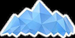 Blue Geometric Mountains Sticker