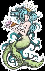 Blue Haired Siren Mermaid Sticker