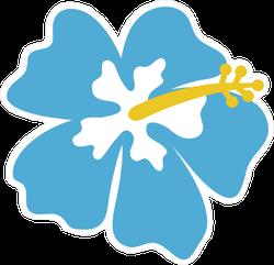 Blue Hibiscus Flower Icon Sticker