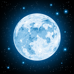 Blue Moon Sticker