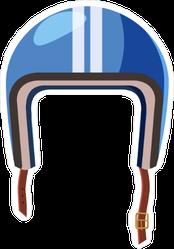 Blue Motorcycle Helmet Sticker