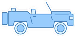 Blue Off Road Vehicle Sticker