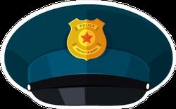 Blue Police Hat Sticker
