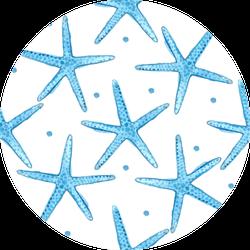 Blue Sea Starfish Pattern Sticker