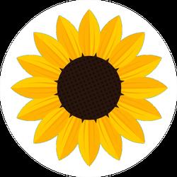 White Sunflower Icon Sticker
