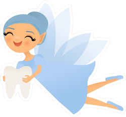Blue Tooth Fairy Sticker