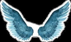 Blue Watercolor Wings Sticker