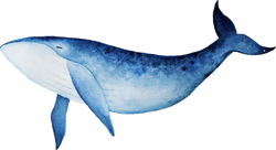 Blue Whale Watercolor Spirit Animal Sticker